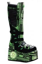 TECHNO-856UV Cyber Strobe Platform Boots