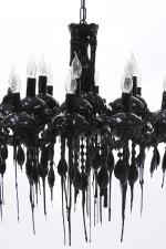 Drippy Black Chandelier