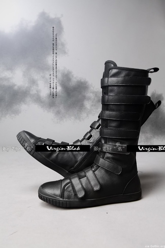 Virginblak Velcro Tall Sneakers Boots