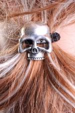 Cute Skully Hair Band Ponytail Holder