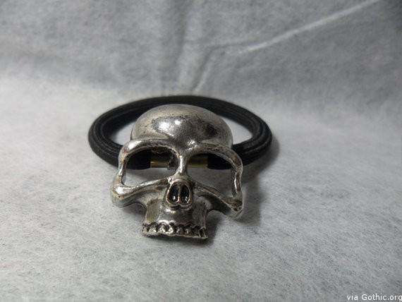 JanesGiftStore - Handmade jewelry Skull hair band on Etsy