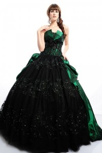 Emeraldy Black Tie Affair Dress