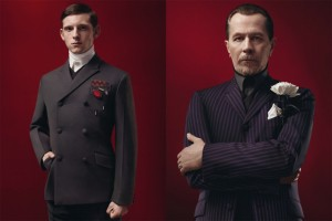 Jamie Bell and Gary Oldman for Prada