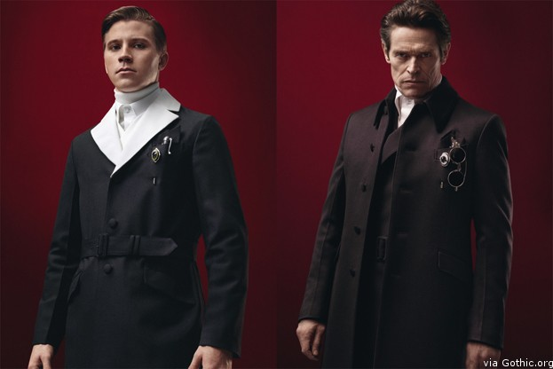 Garrett Hedlund and Willem Defoe for Prada