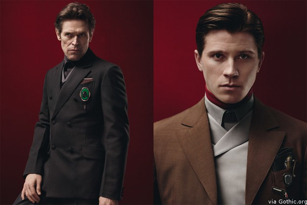 Willem Defoe and Garrett Hedlund for Prada