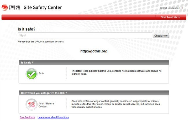 trend micro hates goths site safety center bigots