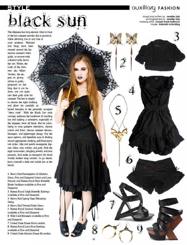 auxiliary magazine june july 2012 summer goth