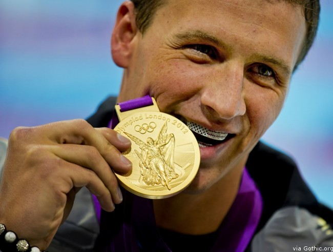 ryan lochte gold medal american flag grill by paul wall