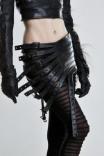 Mother of London Elaborate Black Leather Belts in Stock