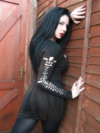 Zombie Goth Industrial Post Apocalyptic Dress Bandage Steampunk Bodycon Distressed Shredded