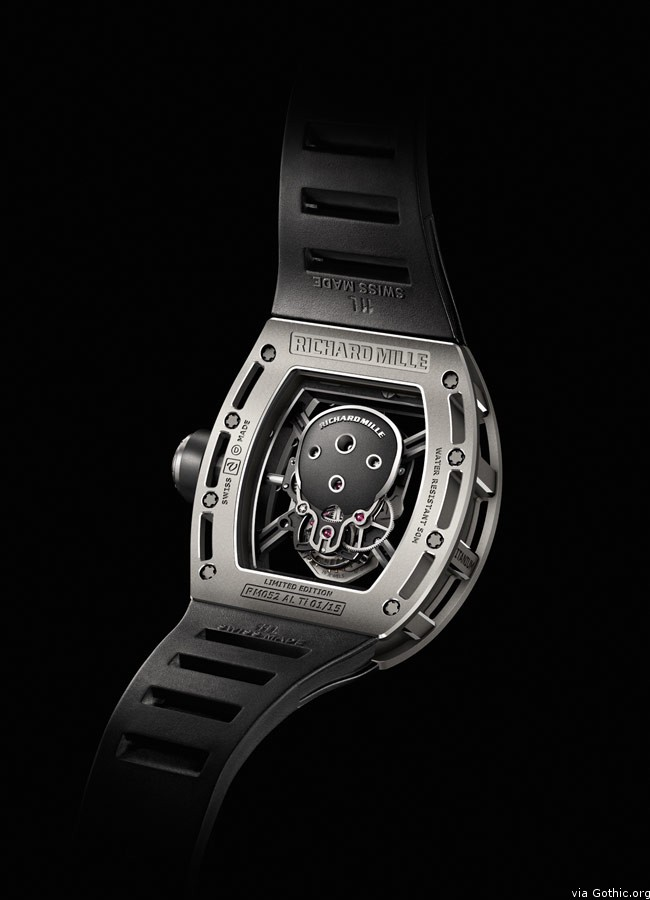 richard mille limted edition skull watch back