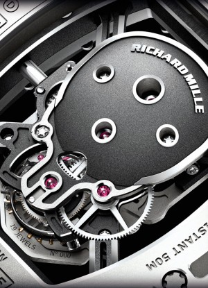 richard mille limted edition skull watch detail