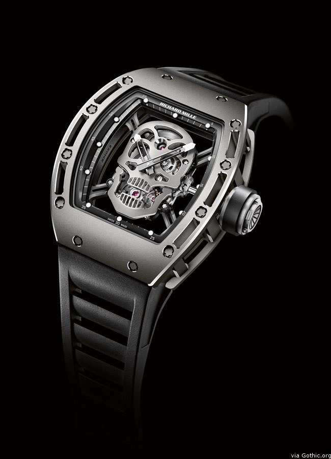 richard mille limted edition skull watch front