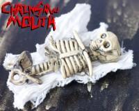 chainsaw mouth limbless skeleton hair clip