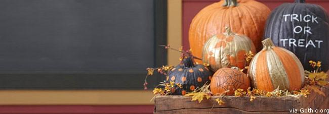 fun frights gilded pumpkins halloween