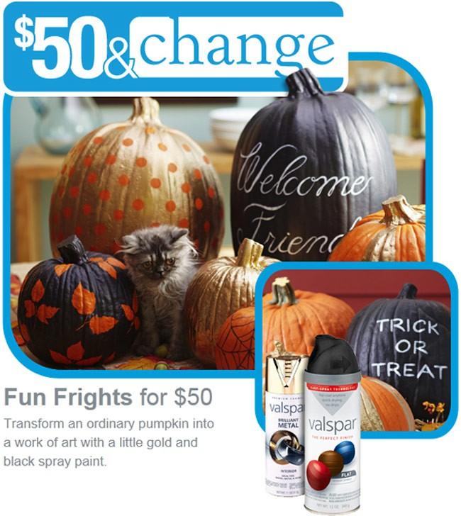 fun frights gilded pumpkins