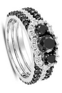 ice dot com black diamond engagement ring