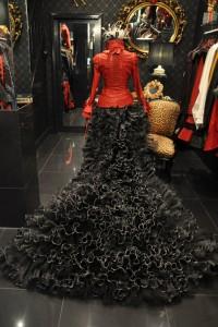 impero london burlesque red costume corset