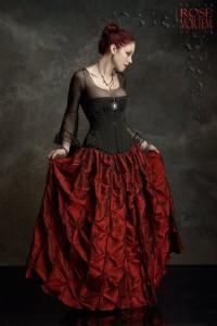 isabella skirt crimson taffeta