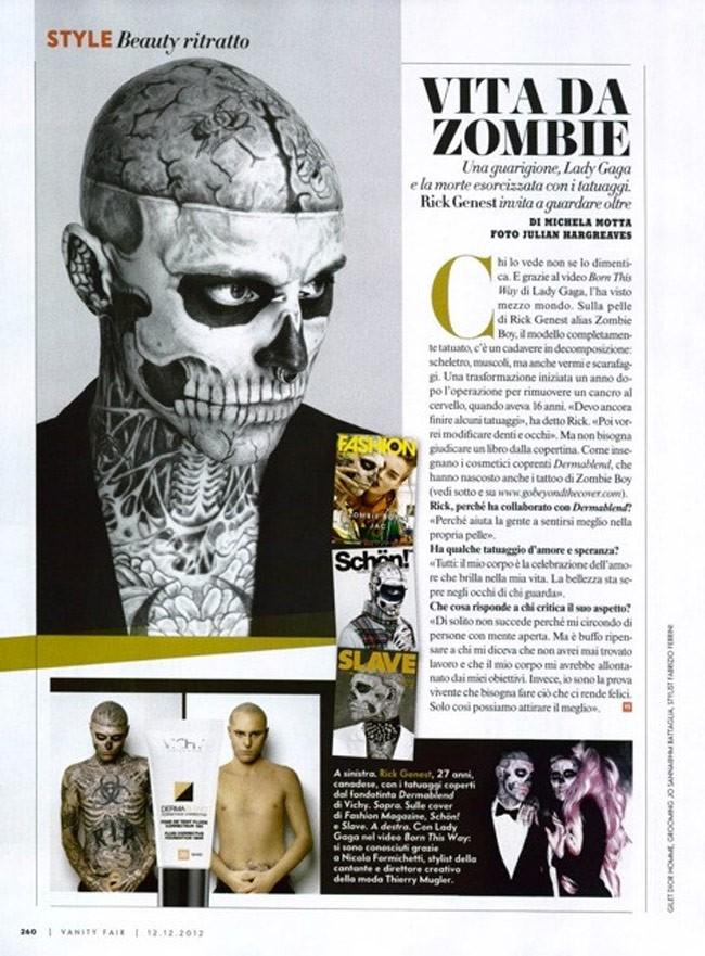zombie boy rick genest vanity fair italy