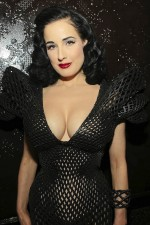 Fully Printed 3D Dress Modeled by Dita Von Teese