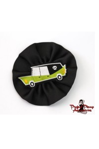 Project Pinup Lime Green Hearse Hair Clip Fascinator Cameo