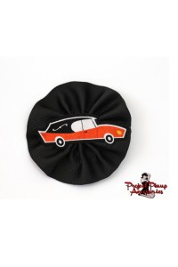 Project Pinup Spikey Orange Hearse Hair Clip Fascinator Cameo