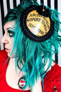 Project Pinup Spikey Ouija Board Burlesque Hair Clip Hat