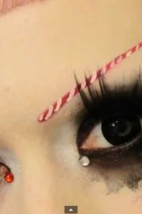 Adorabat Candy Cane Eyebrows Makeup Tutorial