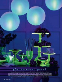 Martha Stewart Halloween Fluorescent Feast